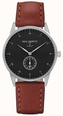 Paul Hewitt ユニセックスシグネチャーブラウンレザーストラップ PH-M1-S-B-1M