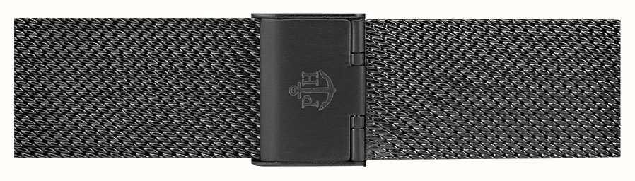 Paul Hewitt ブラックステンレスメッシュブレスレット186mm PH-M1-G-5M