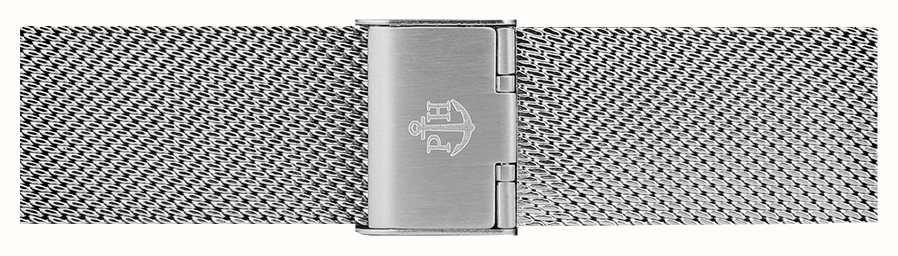 Paul Hewitt | 20mmステンレススチールメッシュストラップ|クラスプの上に折ります| PH-M1-S-4M