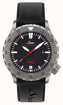 Sinn U212 ezm 16ミッションタイマuボートスチールブラックシリコンストラップ 212.040