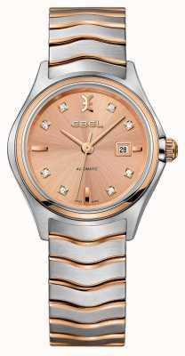 EBEL レディースウェーブダイヤモンドツートンローズゴールド腕時計 1216328