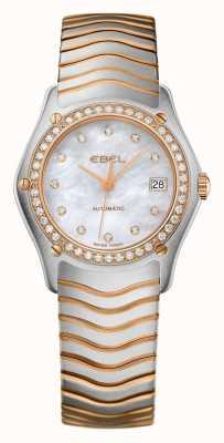 EBEL レディースウェーブダイヤモンド2トーン自動時計 1215928