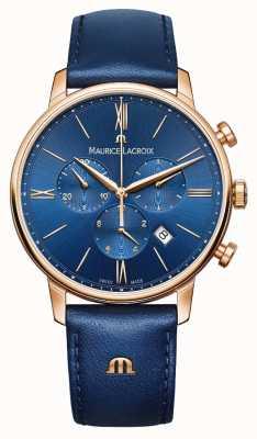 Maurice Lacroix エリオスクロノグラフブルーとゴールドの腕時計 EL1098-PVP01-411-1