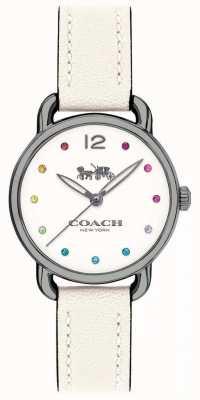 Coach レディースデランシーウォッチホワイトレザーストラップ 14502915