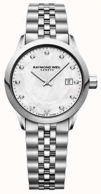 Raymond Weil 女性のフリーライターパールダイヤルの母 5629-ST-97081