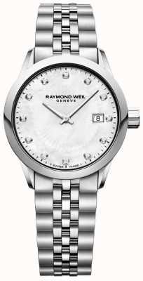 Raymond Weil レディースフリーランサーマザーオブパールダイヤル 5629-ST-97081