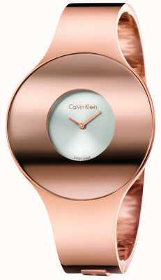 Calvin Klein 女子シームレスな腕時計ゴールドトーントーン K8C2S616
