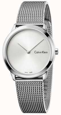 Calvin Klein 女性の最小腕時計シルバーダイヤル K3M221Y6