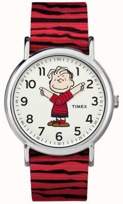 Timex ウィークエンダーピーナッツリニアレッドストラップ TW2R412006B