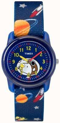 Timex ユース・アナログ・ブルー・ストラップスヌーピー宇宙 TW2R41800JE
