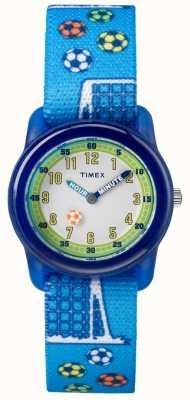 Timex 若者のアナログブルーストラップサッカー TW7C165004E