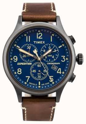 Timex 遠征スカウトクロノグラフストラップブルーダイヤル TW4B09000D