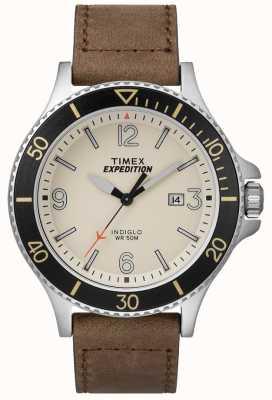 Timex 遠征レインジャータンレザーストラップナチュラルダイヤル TW4B10600D7PF