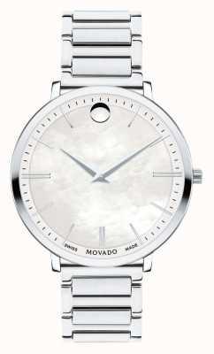 Movado 女性の超スリムなステンレススチールの時計 0607170