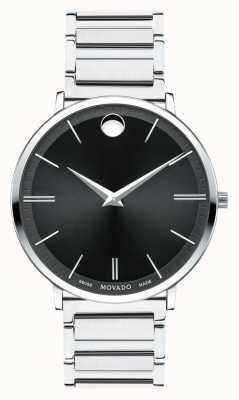 Movado メンズ超薄型ステンレススチール腕時計 0607167