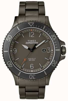 Timex Mens遠征隊員銃メタルブレスレットグレーダイヤル TW4B10800