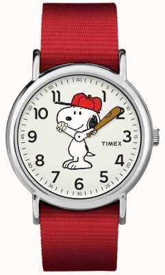 Timex レッドストラップスヌーピーウォッチ TW2R414006B