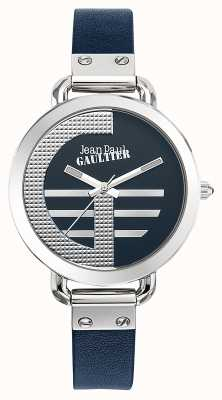 Jean Paul Gaultier レディースインデックスgブルーレザーストラップブルーダイヤル JP8504324