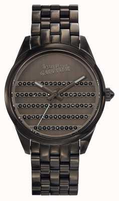 Jean Paul Gaultier (箱なし)ネイビーガンメタルブレスレットとダイヤル JP8502406