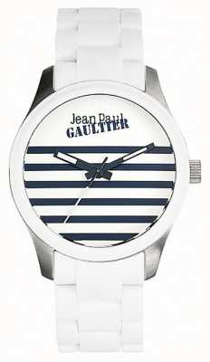 Jean Paul Gaultier (箱なし)幼児terriblesホワイトラバースチールブレスレット JP8501120