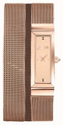Jean Paul Gaultier レディースcote de maille rose gold pvdメッシュブレスレットローズダイヤル JP8503906