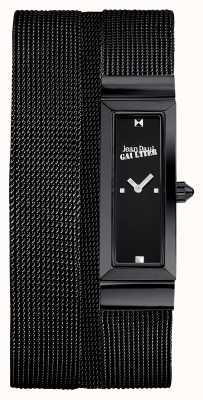 Jean Paul Gaultier レディースコートドメイルブラックPvdメッシュブレスレットブラックダイヤル JP8503905