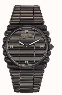 Jean Paul Gaultier メンズbord coteブラックpvdブレスレットブラックダイヤル JP8504203
