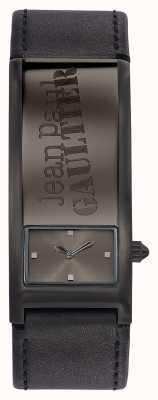 Jean Paul Gaultier 特定のグレーの革のストラップグレーダイヤル JP8503703