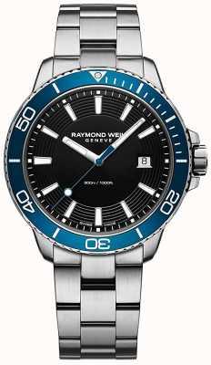 Raymond Weil タンゴブルーベゼルステンレス鋼の時計 8260-ST3-20001