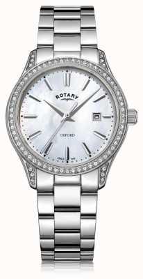 Rotary レディースオックスフォードホワイトステンレススチールクォーツ時計 LB05092/41