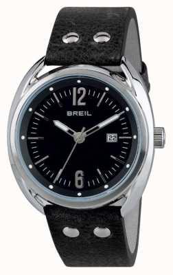 Breil ボーブールステンレススチールブラックダイヤルブラックストラップ TW1669