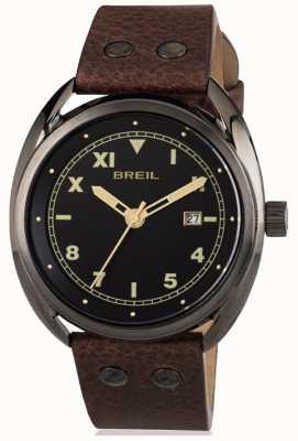 Breil ボーブールステンレススチールIP銃グレーブラックダイヤル TW1670
