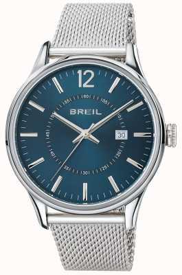 Breil Contempoステンレススチールブルーダイヤルメッシュブレスレット TW1560