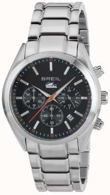 Breil マンタシティステンレススチールクロノグラフブラックダイヤルブレスレット TW1606