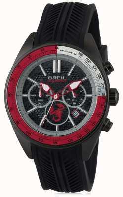 Breil Abarthステンレススチールipブラッククロノグラフブラック&赤ダイヤ TW1693