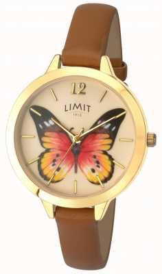 Limit 女性の秘密の庭の蝶の革の腕時計 6275.73