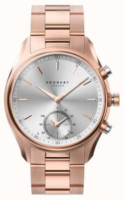 Kronaby 43ミリメートルsekelのbluetoothは金の金属のブレスレットのsmartwatchをローズした A1000-2745