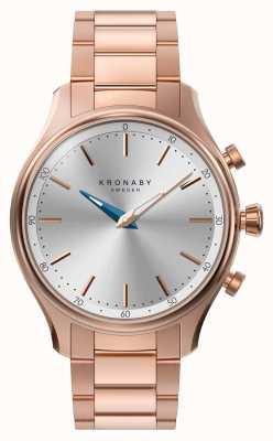 Kronaby 38ミリメートルsekelのbluetoothは金の金属の腕輪のsmartwatchを上げた A1000-2747