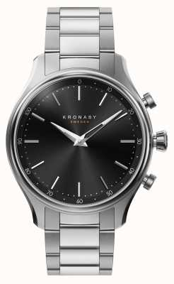 Kronaby 38mmセッケルブルースチールメタルブレスレットスマートウォッチ A1000-2750