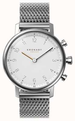 Kronaby 38ミリメートルノースブルートゥーススチールメッシュブレスレットsmartwatch A1000-0793