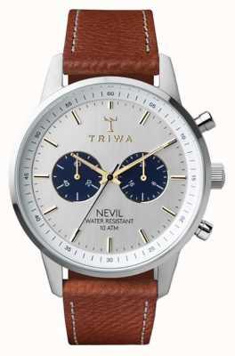 Triwa 茶色のネビルは、茶色の縫製されたクラシック2 NEST116-010212