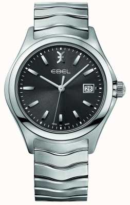 EBEL メンズウェーブステンレススティールブレスレットグレーダイヤル 1216239