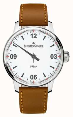 MeisterSinger アーバンホワイトダイヤルオパールシルバー UR901