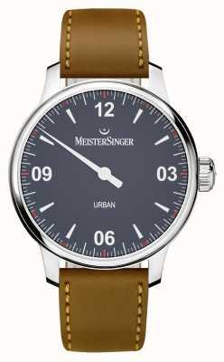 MeisterSinger アーバンブルーブラウンレザーストラップ UR908