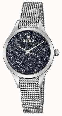 Festina 女性の時計、スワロフスキーメッシュのブレスレット F20336/3