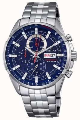 Festina メンズクロノグラフステンレススチール腕時計 F6844/3