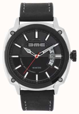DeLorean Motor Company Watches メンズアルファdmcブラックレザーストラップブラックダイヤル DMC-1