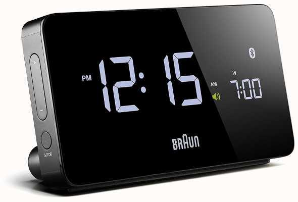 Braun デジタルBluetooth目覚まし時計黒 BNC020BK
