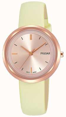 Pulsar ローズゴールドケースとダイヤルレザーストラップ PH8394X1