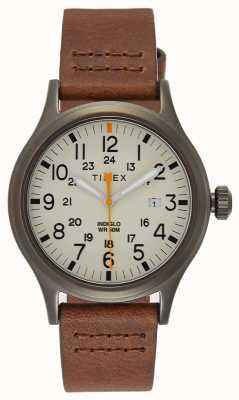 Timex アライド40ブラウンレザーストラップ/ナチュラルダイヤル TW2R46400